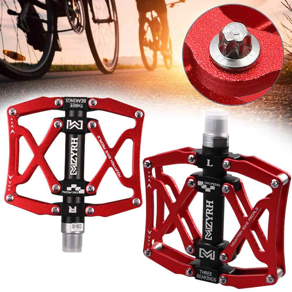 Cycling Pedals 3 Bearings Bicycle Pedals Mountain Bike Flat Bike MTB Road