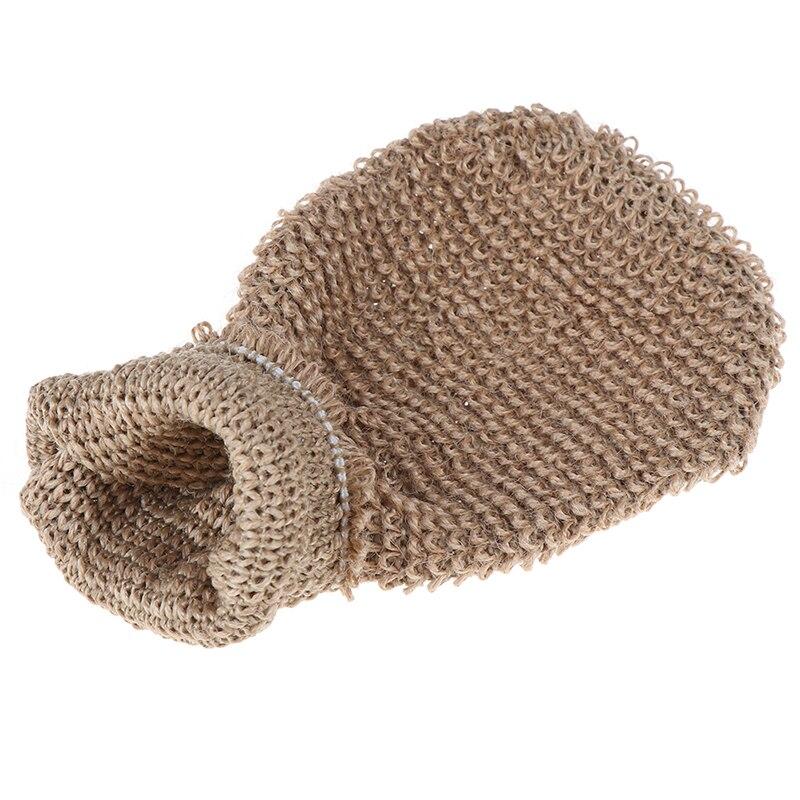 Полотенце массаж спина душ скрабер конопля тело очистка полотенце губки 1шт волокно ванна перчатки отшелушивающий кожа умывальник пена