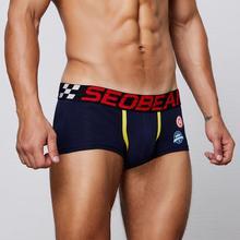 3pcs/lot SEOBEAN mens underwear men cotton underpants male pure panties shorts boxer solid