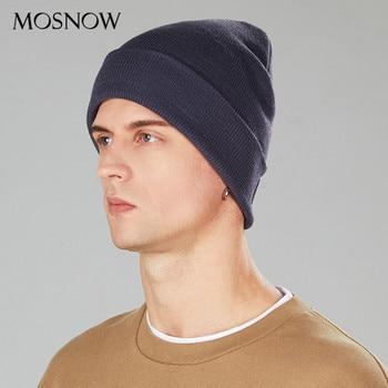 Beanie Hat Unisex Winter Hat Acrylic Knitted Beanie Gorro For Women Men Casual Warm Bonnet Autumn Solid Color Adult Skullies Cap