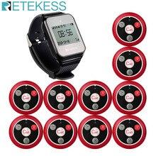 Retekess narguilé Restaurant sans fil serveur système de téléavertisseur TD108 récepteur de montre + 10 T117 bouton dappel pour le Service client