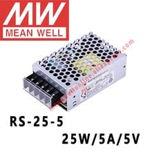 Bem médio RS 25 5 ac/dc 25 w/5a/5 v única saída de comutação da fonte alimentação meanwell loja online