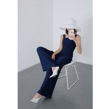 Retro Women Wide Leg Long Jumpsuit 2019 Summer Office Work Wear Overalls Red Blue Black Causal Rompers Macacao Feminino