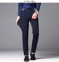 2020 мужские костюмные брюки эластичные прямые платья размера