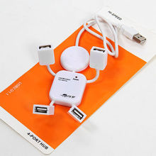 4 Port Hub High Speed USB 2.0 Humanoid Splitter Cable Adapter for Laptop PC