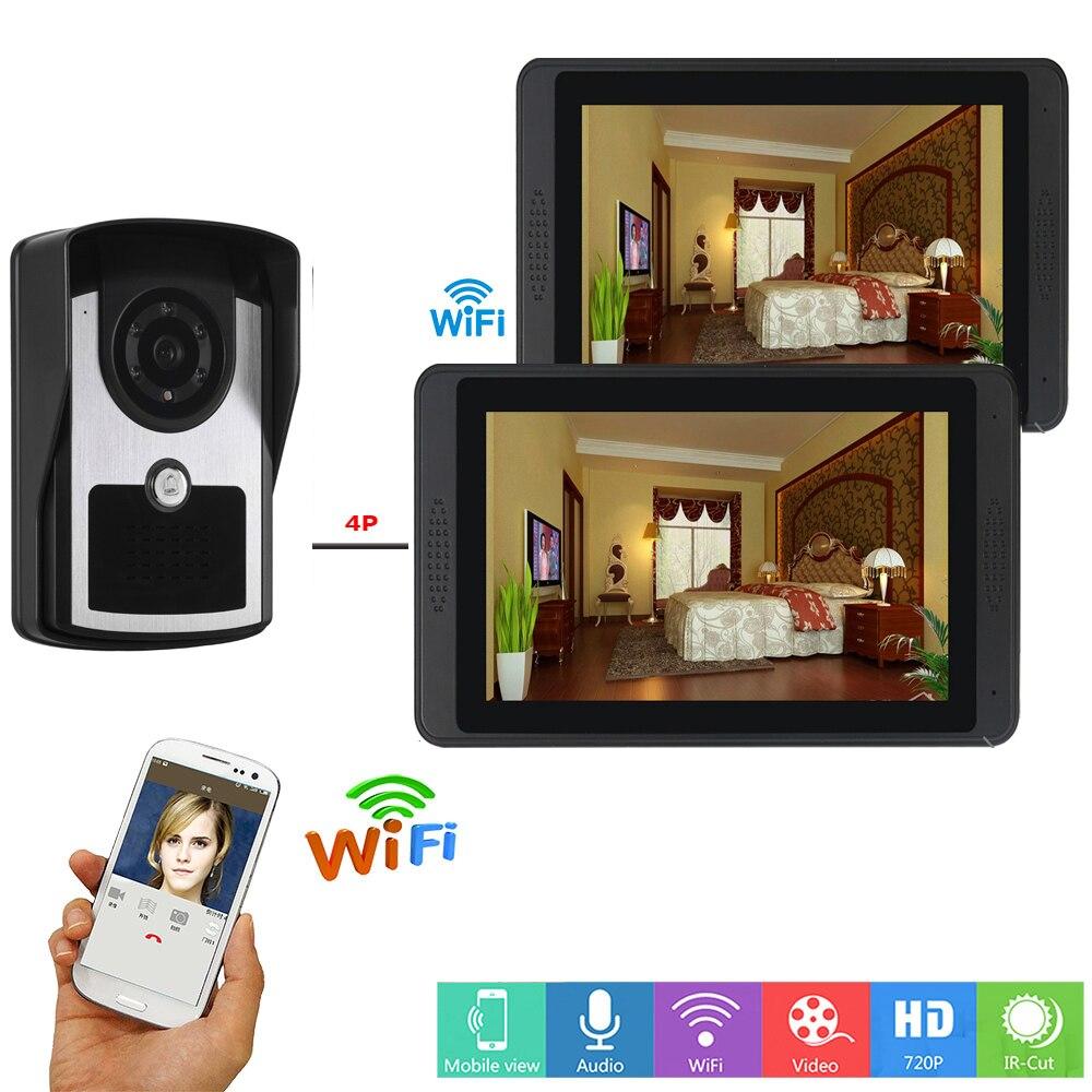 Yobang Security APP Remote Control Video Intercom 7 Inch Monitor WIFI Wireless Video Door Phone Speakerphone Camera Intercom KIT