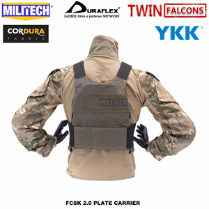 Image 4 - MILITECH TW FCSK 2.0 Advanced Slickster Mil Spec Plate Carrier With MFC 2.0 Main Pouch And Sub Abdominal Pouch Loadout Set Deal