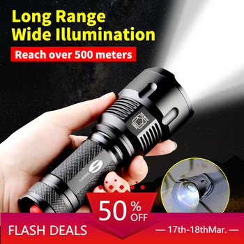 LIGHTBEK Powerful Tactical LED Flashlight CREE T6 L2 Zoom Waterproof Torch for 26650 Rechargeable or AA Battery Bike Flashlight shenyu led flashlight 26650 torch waterproof flashlight cree xml t6 l2 600 lumen zoomable portable bike camping light aa battery