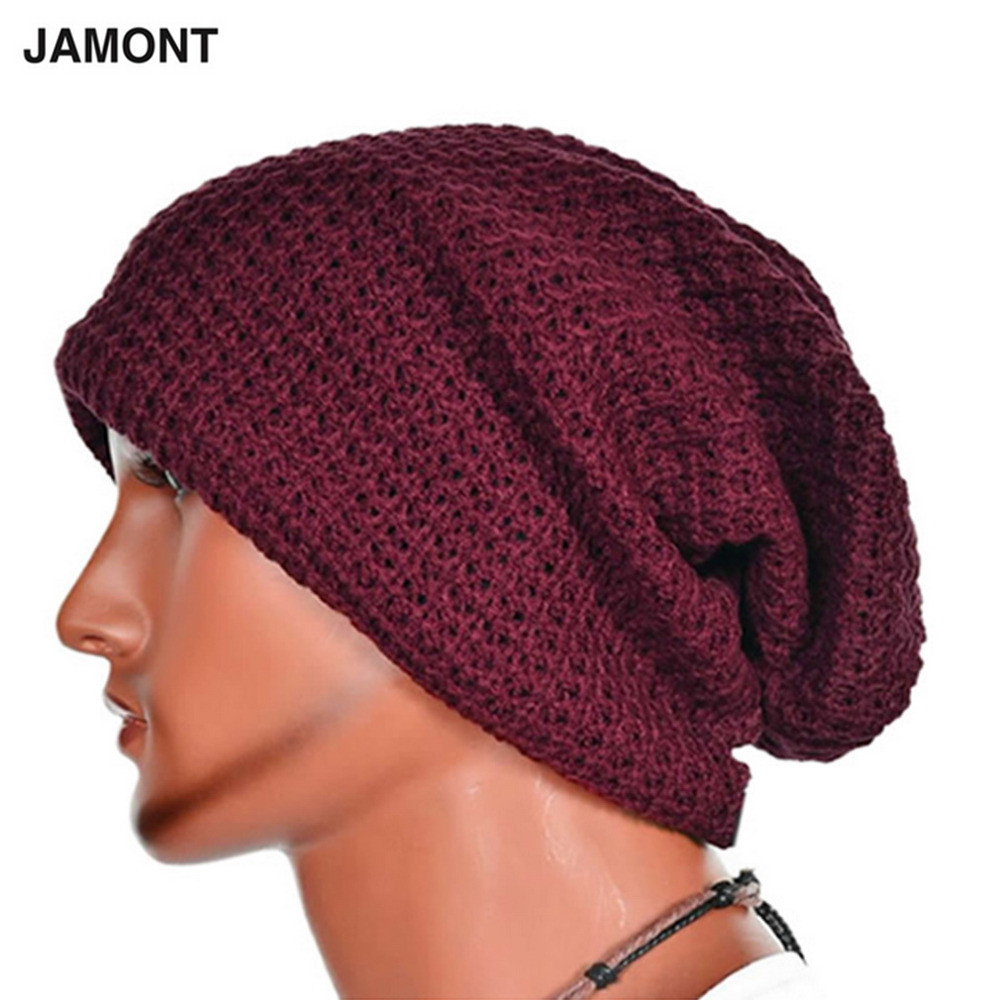 Casual Chic Men's Loose Beanie Hats Caps Winter Women Men's Skullies Warmth Knitted Beanies Solid Color Oversized