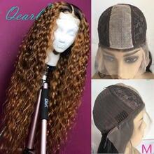 Парик с шелковым верхом на сетке бразильские кудрявые волосы