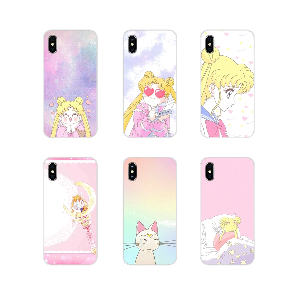 Accessories Phone Cases Covers For Apple iPhone X XR XS 11Pro MAX 4S 5S 5C SE 6S 7 8 Plus ipod touch 5 6 Sailor Moon