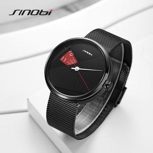 Image 4 - Sinobiブランドファッションクリエイティブメンズクォーツ時計ミラノストラップ腕時計高級ビジネス腕時計スポーツ腕時計レロジオmasculino