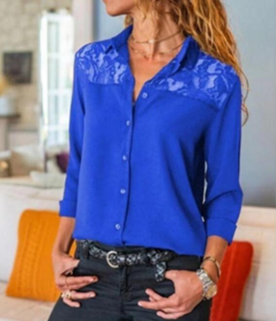 2020 Spring Women Blouses Befree Sexy Long Sleeve Ruffles Lace Elegant Patchwork Casual Big Large Pluse Sizes Tops Office Shirts