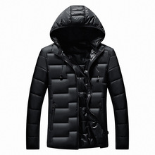 Mens New Winter Cotton Casual Coat Hooded Warm Cotton-padded Jacket Parkas Down Suit