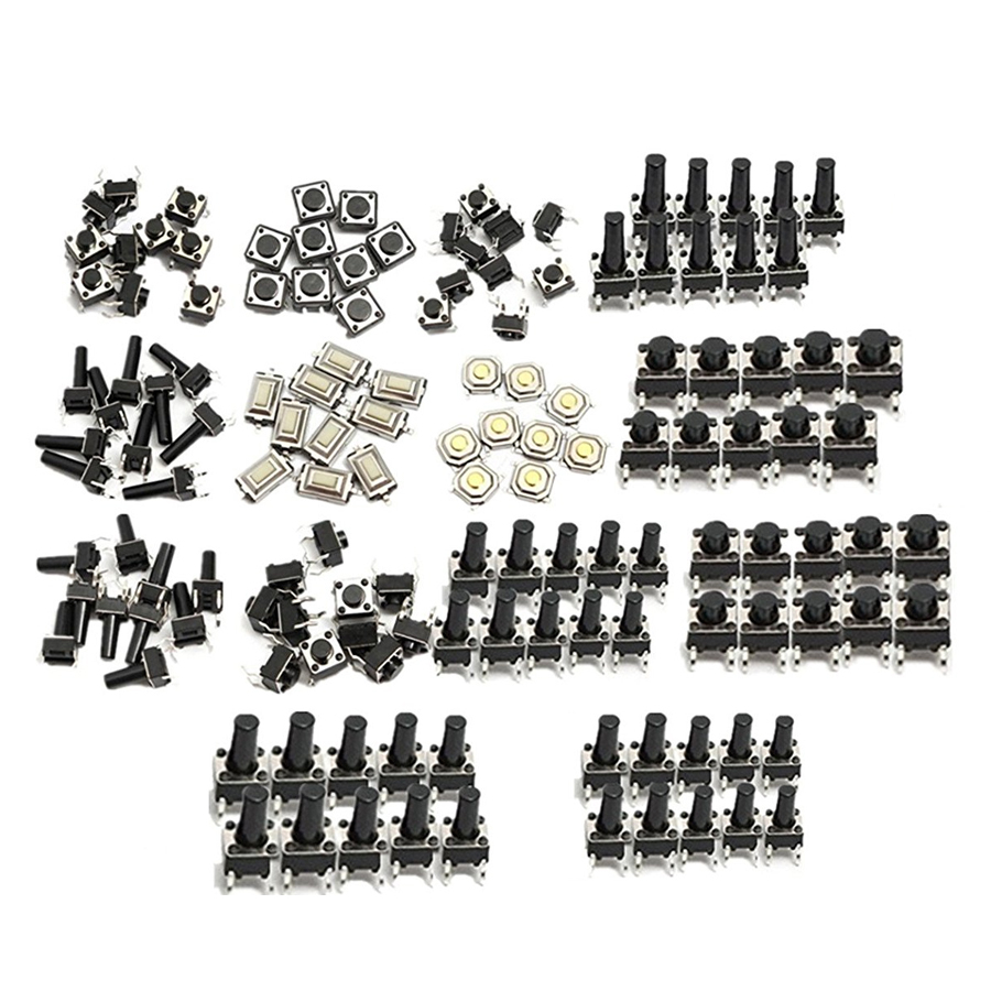 140pcs/lot Switch Caps 14types Kit Momentary Push Button Switch Cap SMD Assortment Kit Set Life 10000 Times Caps Promotion Price