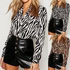 Stripe Zebra print b...