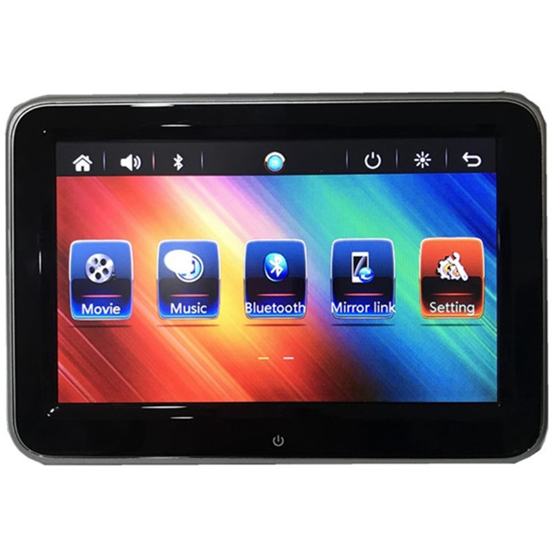 8 Inch Hd Car Headrest Monitor Dvd Video Player Usb/Sd/Fm Tft Lcd Digital Screen Press Button Game Remote Control Car Mp5 Player