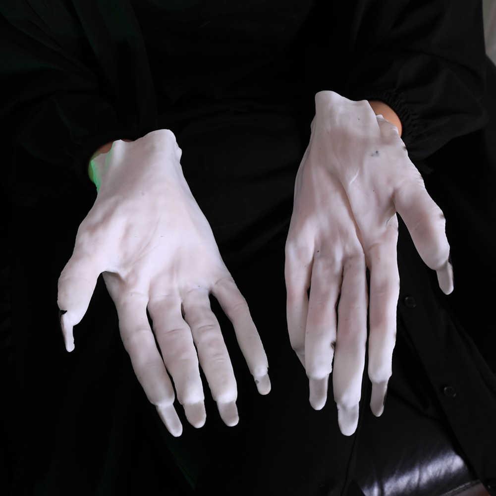 FAI DA TE Maschera Animale Maschera Testa di Lupo Costume Theater Prop Lattice di Gomma Della Novità Maschere Creepy Halloween Party Decor Maschera Con I Guanti set