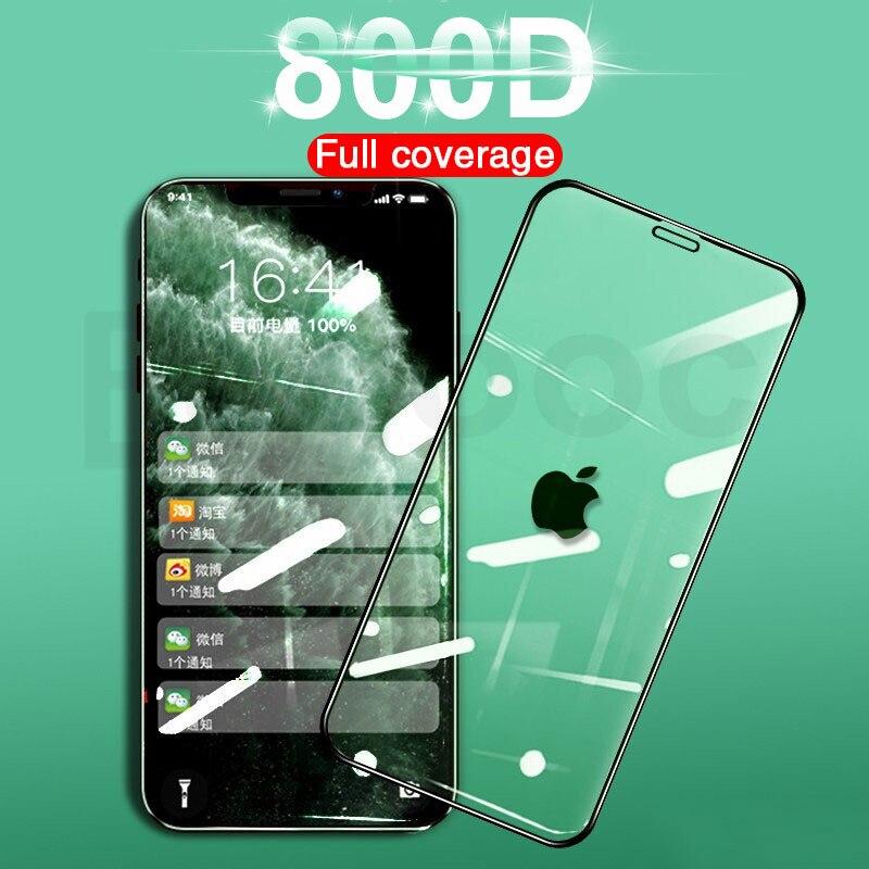 800D полное изогнутое покрытие края закаленное стекло для apple iPhone X XR 11Pro XS Max 7 8 6 6S Plus Защитная стеклянная пленка для экрана|Защитные стёкла и плёнки|   | АлиЭкспресс