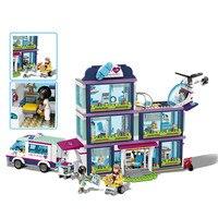 New 932pcs Friends Girl Compatible Legoinglys City 41318 Model Friends Building Blocks Heartlake Hospital Bricks Toy Girl Gifts