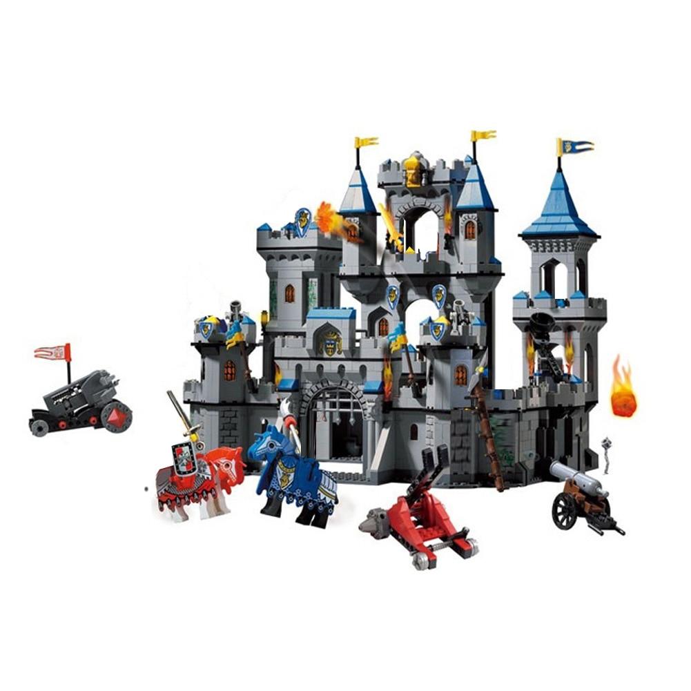 Развивающий строительный блок: война славы, замок эльфов, рыцари, замок Лев, ястреб, развивающие кирпичи, игрушка для мальчиков-без коробки