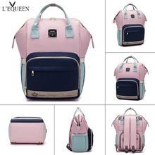 LEQUEEN красочная сумка для подгузников для мам, сумка для кормления детей, водонепроницаемый органайзер для хранения для мам и фруктов, женский рюкзак для путешествий
