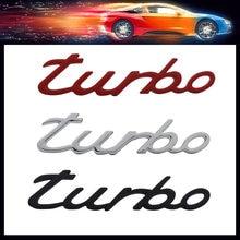3d chrome preto letras vermelhas palavras turbo para capô do carro fender tronco traseiro bonnet placa de identificação decalque emblema adesivo
