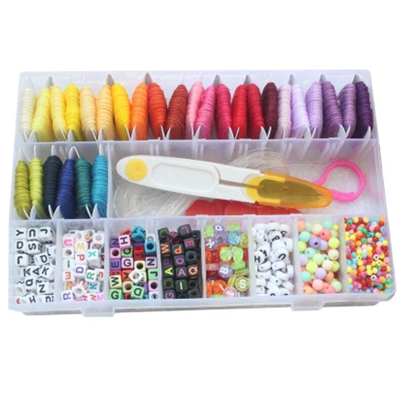 DIY Jewelry Making Kit Letter Bead Friendship Bracelet Jewelry Making Material 28 Color Line Woven Bracelet Hand Woven