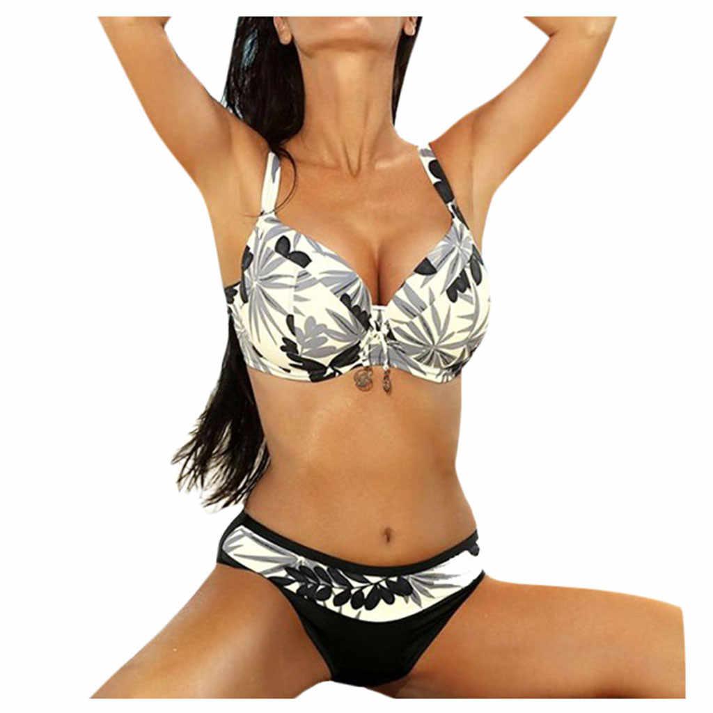 Sagace verão novas senhoras sexy praia malha panelled maiô oco fora do peito cintura alta monokini praia vestido de banho