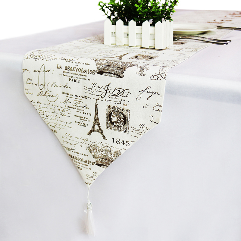 European Style Printed Table Runners Luxury Table Runner Modern Wedding Party Christmas Decoration For Home Linen Table Cloth
