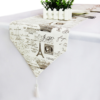 European Style Printed Table Runners Luxury Table Runner modern Wedding Party Christmas Decoration for home Linen table cloth цена 2017