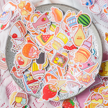 200 Pcs Snacks Food Cute Decorative Stickers Scrapbooking DIY Paper Sticker Creative Stationery Diy Diary Album Stick Label 2 pcs lot vintage sweet life paper sticker diy scrapbooking diary album label sticker post kawaii stationery school supplies