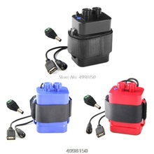 DIY 6x18650 סוללה אחסון מקרה תיבת USB 12V אספקת חשמל עבור טלפון LED נתב Dropship