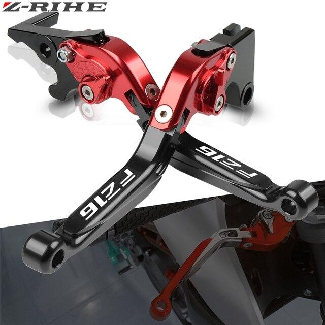รถจักรยานยนต์CNC Adjustable Handle Leversรถจักรยานยนต์คลัทช์เบรคห้ามล้อสำหรับYamaha FZ16 FZ 16 FZS16 FAZER16 2008 2009 2010 2018