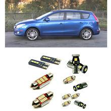 Luces led de coche interiores para Hyundai Elantra Touring 2012 02011, bombillas de domo de lectura, luz de matrícula libre de errores, 11 piezas por lote