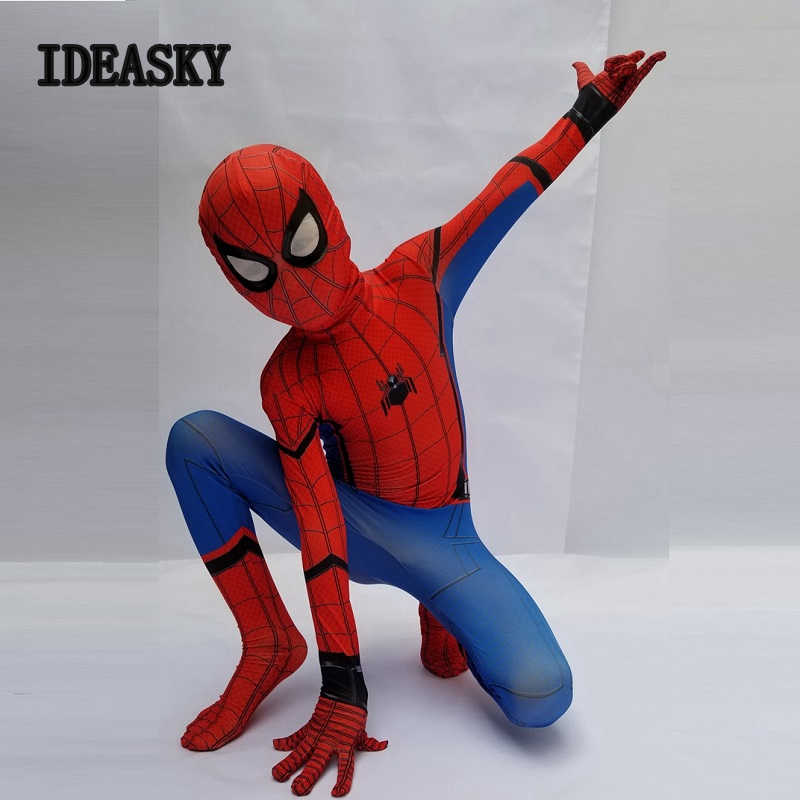 Superhero children black the amazing spiderman costume adult for kids halloween spider man child homecoming cosplay avenges