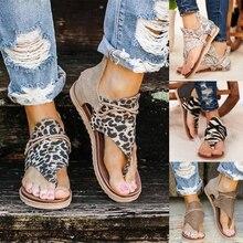 2020 Women Sandals Leopard Print Summer Shoes Women Large Si