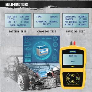 Image 3 - AUTOOL BT360 12V Auto Batterie Tester Digitale Automotive Diagnostic Batterie Tester Analyzer Fahrzeug Ankurbeln Lade Scanner Tool