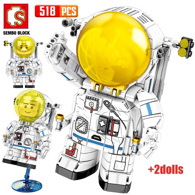 SEMBO Rockets Series Cute Astronaut 2 Figures Bricks