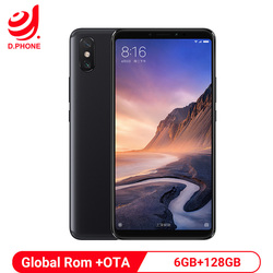 Global Rom Xiaomi Mi Max 3 6GB 128GB Mobile Phone 5500mAh 6.9