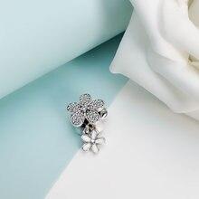 Аутентичные 925 стерлингового серебра бусины Новая мода вишня