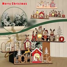 40 # wesołych świąt drewniany naszyjnik ozdoby choinkowe dla domu 2020 Cristmas Ornament Xmas Navidad szczęśliwego nowego roku 2021 tanie tanio ISHOWTIENDA CN (pochodzenie) TREE Europa Wikliny
