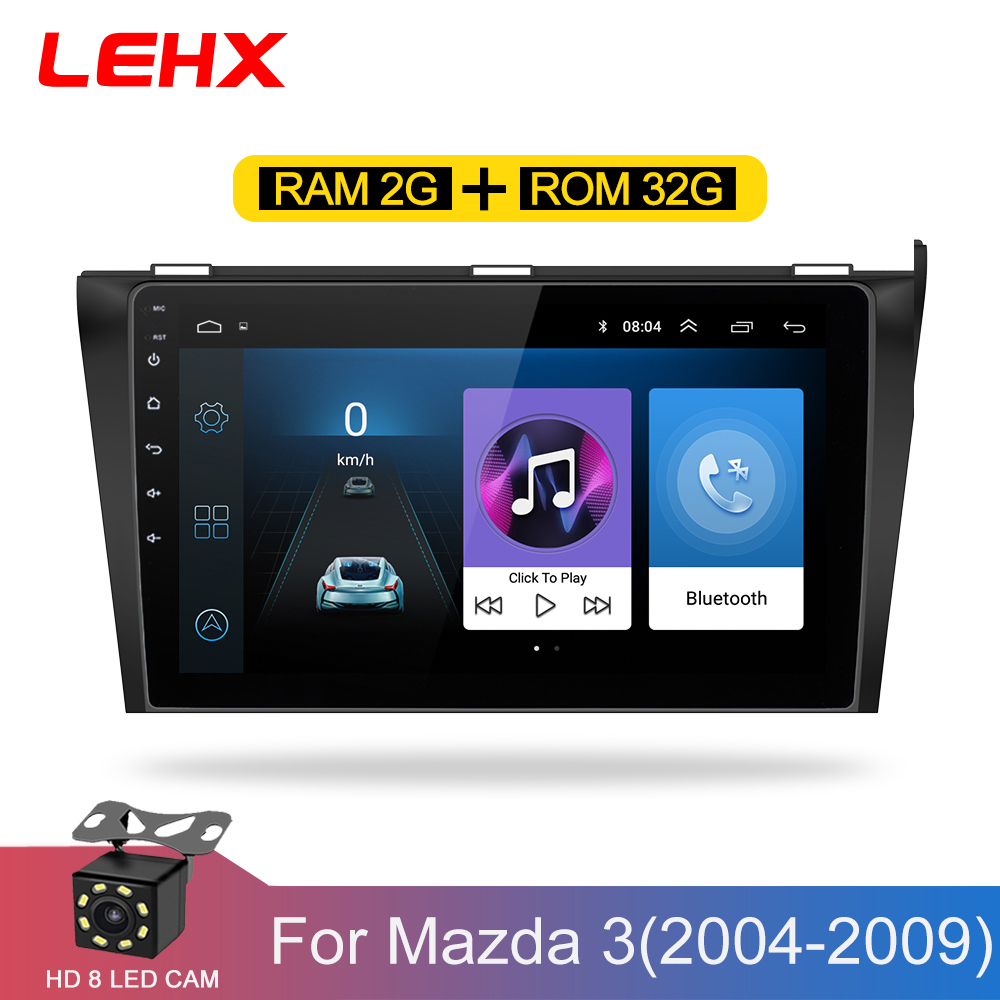 Car DVD GPS Android 8.1 Car  Radio Stereo 2G 32G  Free MAP Quad Core 2 Din Car Multimedia Player For Mazda 3 2004-2013 Maxx Axel