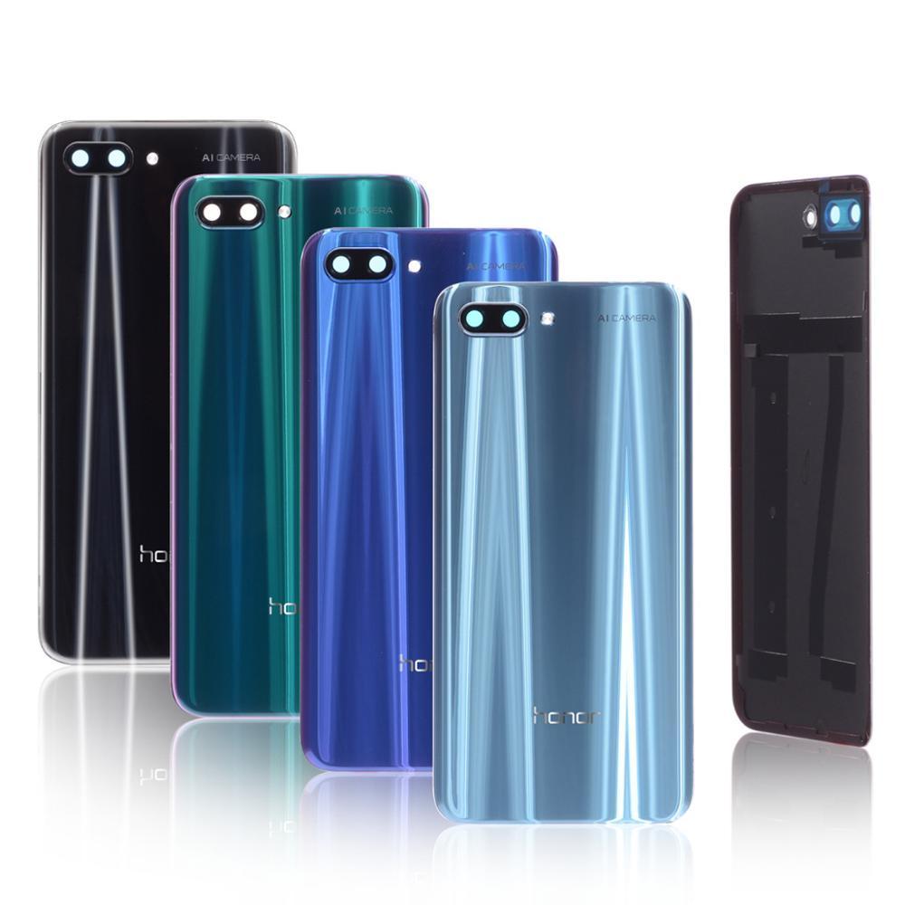 화웨이 명예의 100% 오리지널 유리 하우징 10 명예의 카메라 렌즈가있는 배터리 커버 10 백 커버 교체 부품-에서휴대폰 케이스부터 전화기 & 통신 의