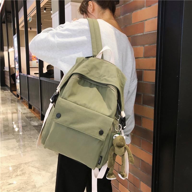 Women School Backpacks 2020 Brand New Summer Female Casual Students Canvas Shoulder Bags Soft Zipper Backpacks For Teenage Girls
