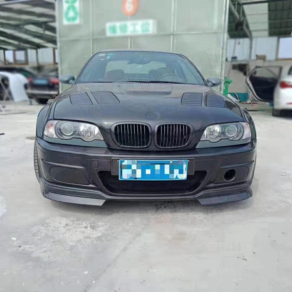 Переднее крыло бампера из углеродного волокна для BMW 3 серии E46 M3 передний бампер для стайлинга автомобиля - 3