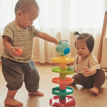 Rolling Ball Pile Tower Baby Montessori Toys Rattles 0-24 months Kids Newborn Educational&Learning Toy For Children Gifts
