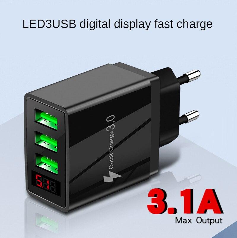 5 V3. 1A chargeur numérique 3usb chargeur de Charge rapide numérique Smartphone prise de Charge vente chaude
