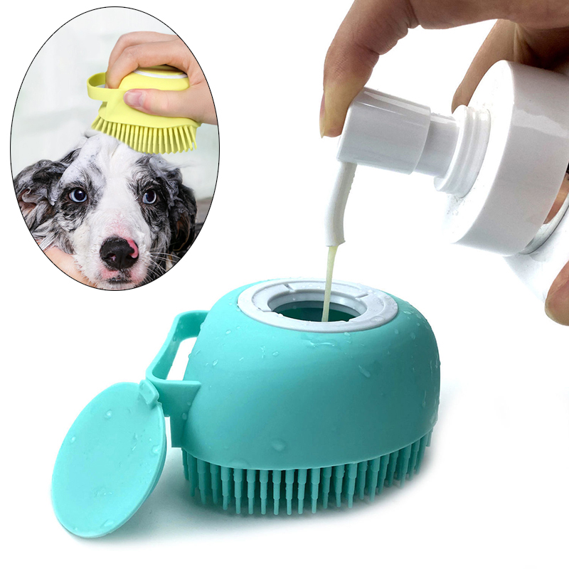 Bathroom Puppy Big Dog Cat Bath Massage Gloves Brush Soft Safety Silicone Pet Accessories for Dogs Cats Tools Mascotas Products