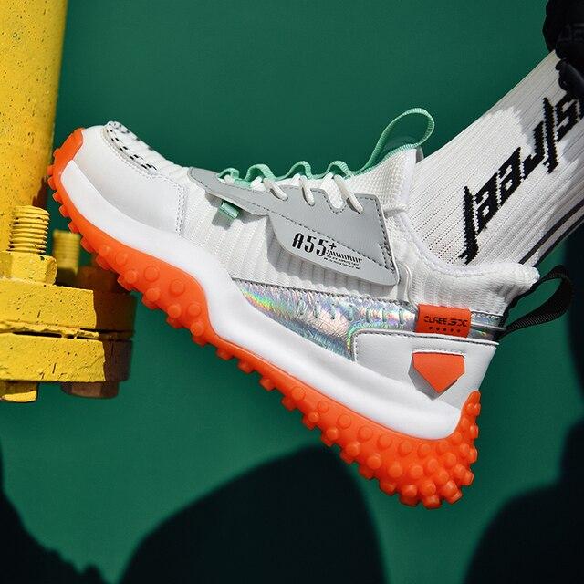 Zapatillas de correr transpirables para hombre, zapatos antideslizantes de alta calidad para correr al aire libre, cómodos y resistentes 4